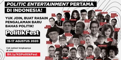 Bicara Politik Di PolitikFest Dalam Rangka Kemerdekaan