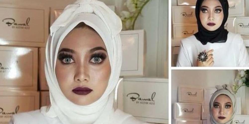Sambut Idul Fitri, Desainer Ini Bikin Gaya Hijab Pocong