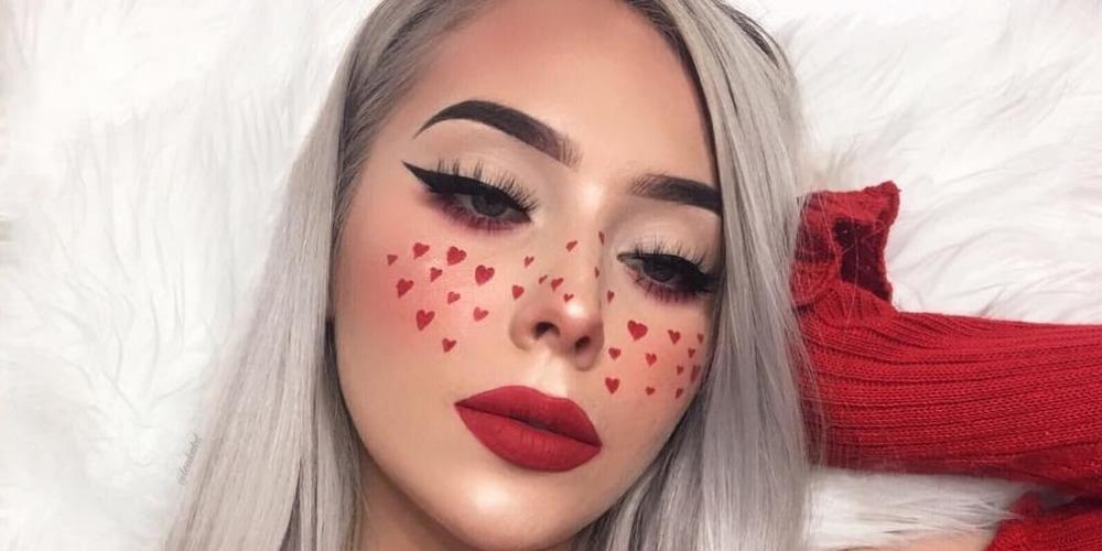 Tren Makeup Bintik Hati Bernuansa Valentine