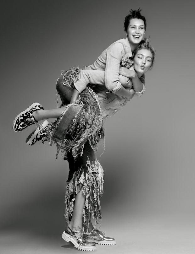 Gigi dan Bella Hadid Lakukan Editorial Pertama untuk Love